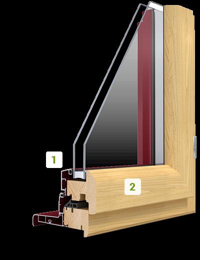 la fen tre mixte alu et bois nolwen ouverture la fran aise art fen tres. Black Bedroom Furniture Sets. Home Design Ideas