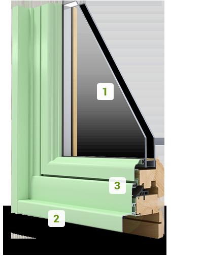 la fen tre mixte alu et bois soizic ouverture la fran aise art fen tres. Black Bedroom Furniture Sets. Home Design Ideas