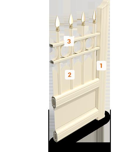 Le portail en alu r tro art fen tres fabricant pose de - Portail d angle ...