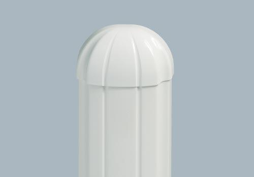 barreaudage en applique bombé mouluré blanc