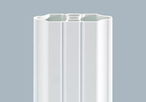 barreaudage intégré bombé mouluré blanc