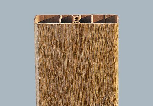 barreaudage intégré droit chêne doré