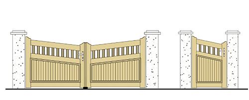 forme portail et portillon pvc biais