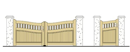 forme portail et portillon pvc chapeau de gendarme inverse