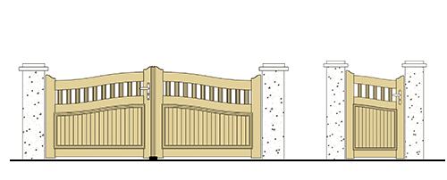 forme portail et portillon pvc chapeau de gendarme