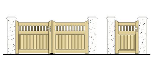 forme portail et portillon pvc droit