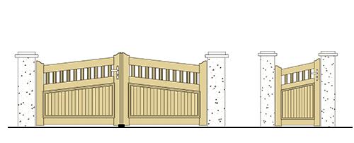 forme portail et portillon pvc pointe