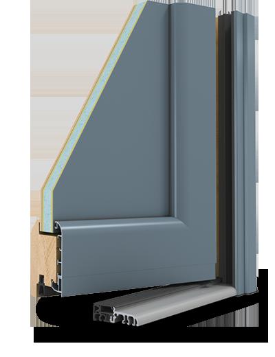 Les portes d 39 entr e mixte bois et alu d 39 art fen tres for Joint metallique fenetre