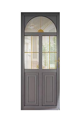 Les portes d 39 entr e mixte bois et alu d 39 art fen tres for Luminaire exterieur ral 7016