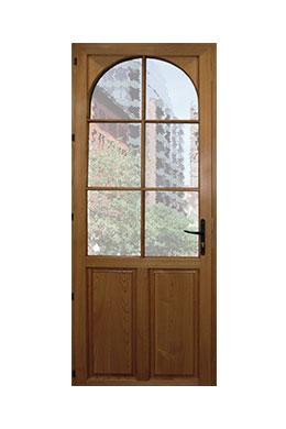 les portes d 39 entr e mixte bois et alu d 39 art fen tres. Black Bedroom Furniture Sets. Home Design Ideas