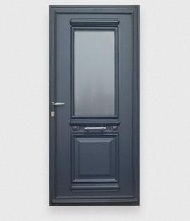Les portes d 39 entr e aluminium r sistantes la gamme des - Porte d entree fermiere ...