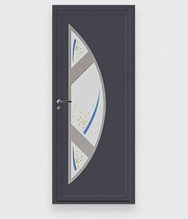 Les portes d 39 entr e en pvc d 39 art et fen tres fabrication for Porte de service pvc gris anthracite