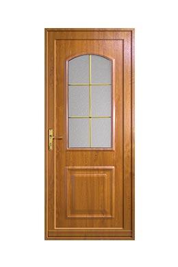 Porte d 39 entr e pvc prestige bois ch ne dor fabricant de for Modele de fenetre en bois