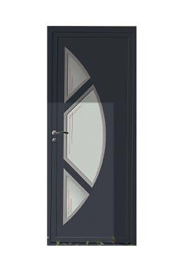 porte d 39 entr e pvc tendance bois gris anthracite pose de. Black Bedroom Furniture Sets. Home Design Ideas