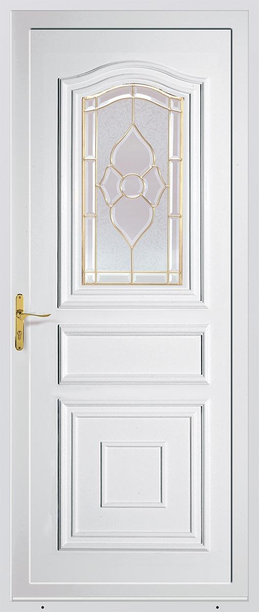 Porte d 39 entr e pvc standing prestige pose de portes d for Rideau de porte d entree exterieure