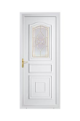 Porte d 39 entr e pvc standing prestige pose de portes d for Rideau de porte d entree isolant