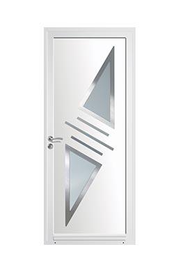 Porte d 39 entr e pvc standing tendance pose de portes d for Art et fenetre