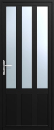 Porte d 39 entr e indus porte alu art et fen tres for Porte aluminium blanche