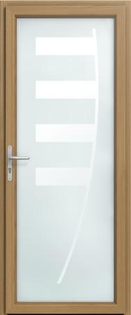 Porte d 39 entr e vitr es porte bois art et fen tres - Grande porte d entree ...