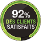 logo 92% de satisfaction